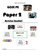 NEW GCSE PE - Paper 2 Revision Booklet