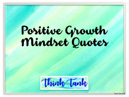 Growth Mindset Quotes | Growth Mindset Posters Positive Quotes Watercolor By Lisaf5005