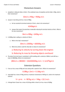 Momentum Worksheet with Answers by jwansell - Teaching Resources - Tes