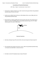 Gravitational Potential Energy Worksheet with Answers by jwansell ...