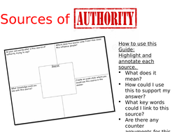 eduqas route B source of authority booklet