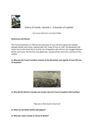 Canada: A People's History - Episode 5- A Question of Loyalties - Supporting Worksheet