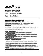 AQA GCSE Media Mock Legacy spec. including preliminary material