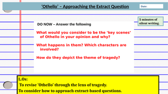 Othello - Essay Writing Skills