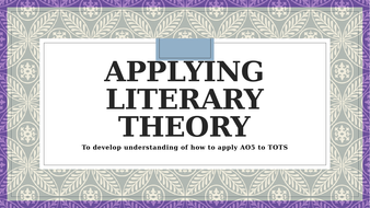 Applying Literary Criticism Theory - Taming of the Shrew A Level