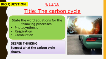 AQA new specification-The carbon cycle-B16.3