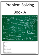 Maths Problem Solving Booklets
