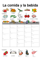 spanish food and drink categories worksheet by garciaweston languageresources teaching resources. Black Bedroom Furniture Sets. Home Design Ideas