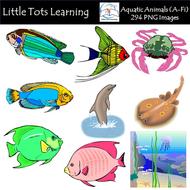 Aquatic Animals (A-Fi) Clip Art - Commercial Use ...