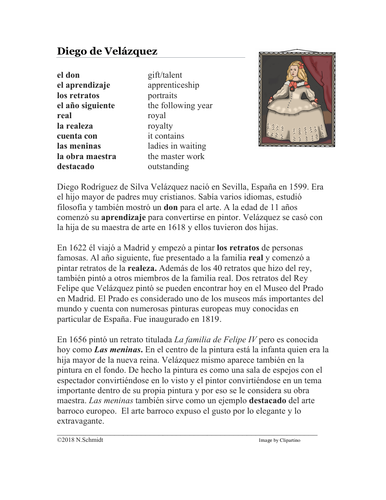 Diego de Veláquez Spanish Biography - Biografía