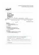 A* Model answers & annotations for A level biology AQA practice paper 1 - exam technique revision