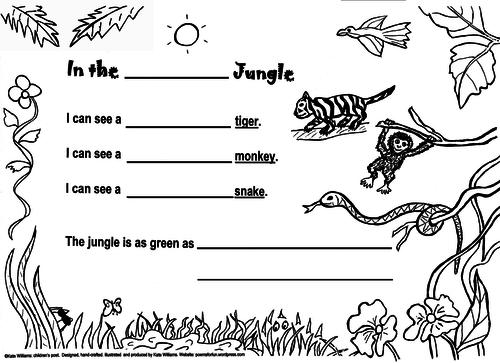 Jungle Poetry Frame, Yr 1