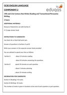 Eduqas GCSE English Language - Component 2 - Practice Examination Paper (Reading and Wri