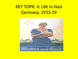 GCSE History Weimar and Nazi Germany Revision Key Topic 4 Life in Nazi Germany