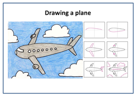 Draw and Paint an AEROPLANE!