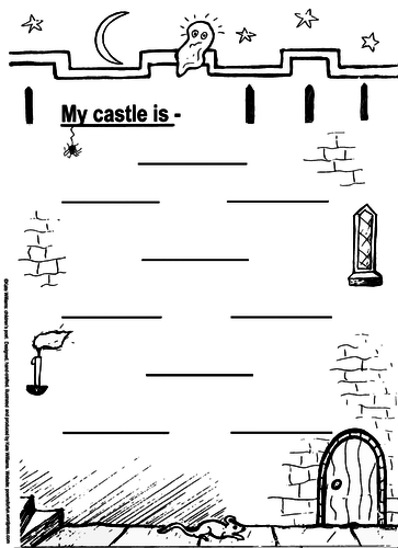 My Castle + 3 Graded Castle Character Poetry Frames (KS1)