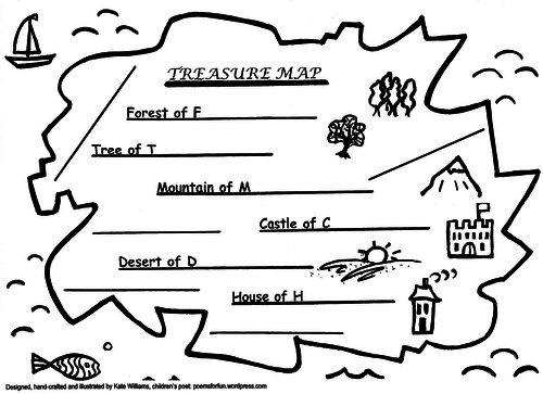 Treasure Map Alliteration Game (Yr1-6) + Guide for Use