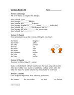 German Review: 15 Pages of Review for beginner Students (Editable) A1/A2
