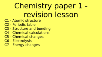Aqa chemistry paper 1 flashcard revision lesson by aqa chemistry paper 1 flashcard revision lesson urtaz Choice Image