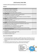 Maths Skills for GCSE Chemistry Revision Booklet
