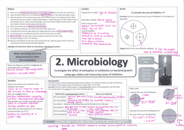 Microscopy and microbiology required practical revision 9-1 AQA