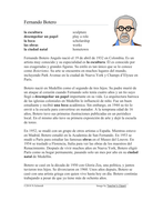 Fernando Botero Biografía: Spanish Biography on Colombian Artist Botero