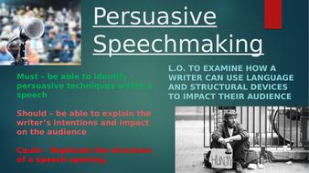 persuasive speech analysis