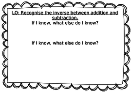 year   working at expected standard  inverse addition subtraction  year   working at expected standard  inverse addition subtraction  worksheet  new  curriculum