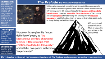 Power and conflict poetry: The Prelude by William Wordsworth