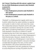 Grade 9 exemplar Macbeth essay Lady Macbeth powerful