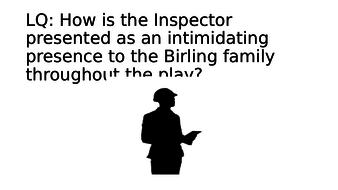 An Inspector Calls: Inspector Goole revision task