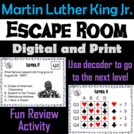 Martin Luther King Jr. Escape Room - Social Studies