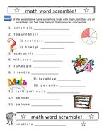 math word search puzzle plus math word scramble both items by  mathscrambleplusmathwordsearchdoc