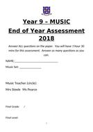 End of KS3 Music Assessment