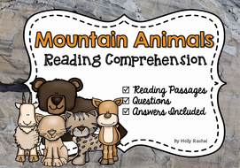 mountain animals reading comprehension by hollyrachel teaching