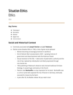 Situation Ethics - Consolidated notes