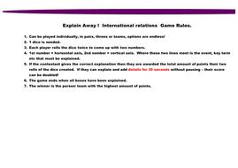 OCR explaining the modern world international relations revision game GCSE