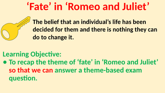 what is fate in romeo and juliet