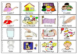 Autism Communication Flash Cards Teaching Resources
