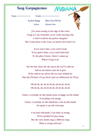 moana song how far i ll go listening comprehension worksheets