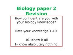 AQA Biology 1-9 Paper 2 revision quiz