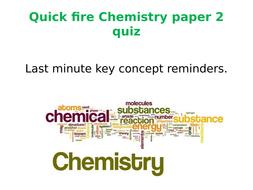 Chemistry AQA 9-1 PAPER 2 Revision Quiz