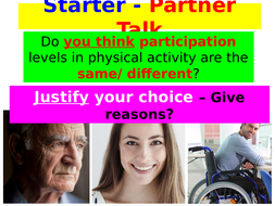 New AQA GCSE PE - Engagement Patterns/ Barriers to Participation