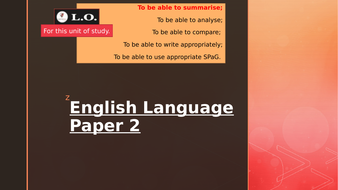 English Language Paper 2 Walkthrough