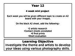 Year 12 Mini Photography Projects By Khussain83