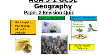 AQA Geography GCSE 9-1 - Paper 2 revision quiz