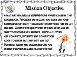 Special Right Triangles Game: Geometry Escape Room - Math ...