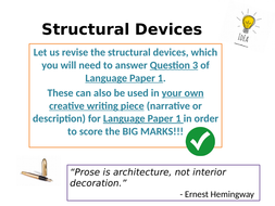 Structural Devices Revision Mind Map