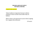 AQA GCSE Language Paper 2 SAM Writing: Question 5