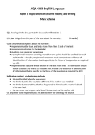 AQA GSCE SAM Language Paper 1